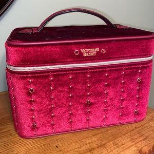 Victorias Secret vanity case makeup bag Velvet $48